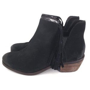 Cole Haan Ankle Boots Black Abbot Fringe Booties 8